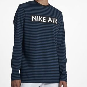 Nike Air Men's M Striped Long Sleeve Shirt